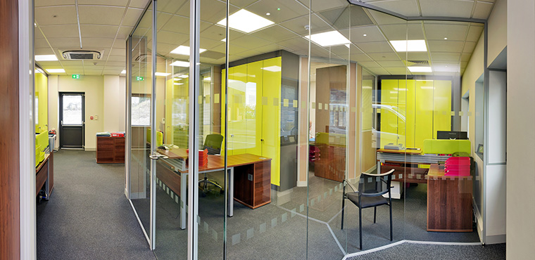 glass partitions guilldford